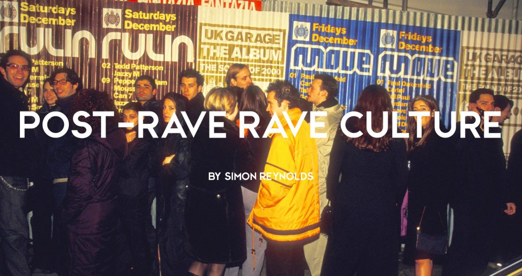 Nineties ravers queuing outside of super club Ministry of Sound for a night out, London, 1990s by Naki