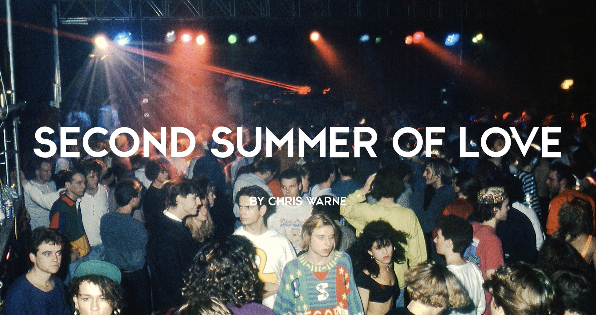 Rave crowd an underground warehouse rave during the second summer of love, 1980s by Gavin Watson