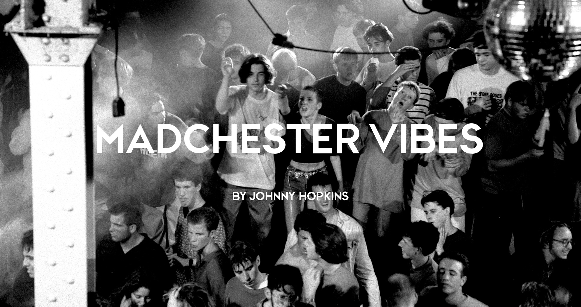 Madchester acid house ravers on the dance floor at The Hacienda, second summer of love, Manchester, 1980s by Peter Walsh