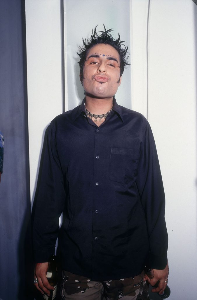 Bobby Friction, Asian underground and Bhangra artist at Outcaste, Notting Hill Arts Club, London, 1990s Adam Friedman