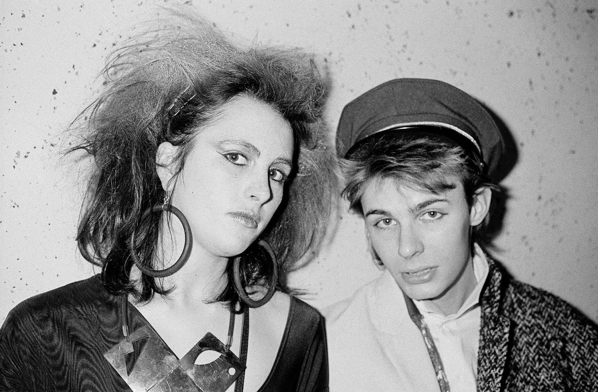 Two New Romantics with sailor hat at the Bristol University rag ball, 1985 by Marcus Graham