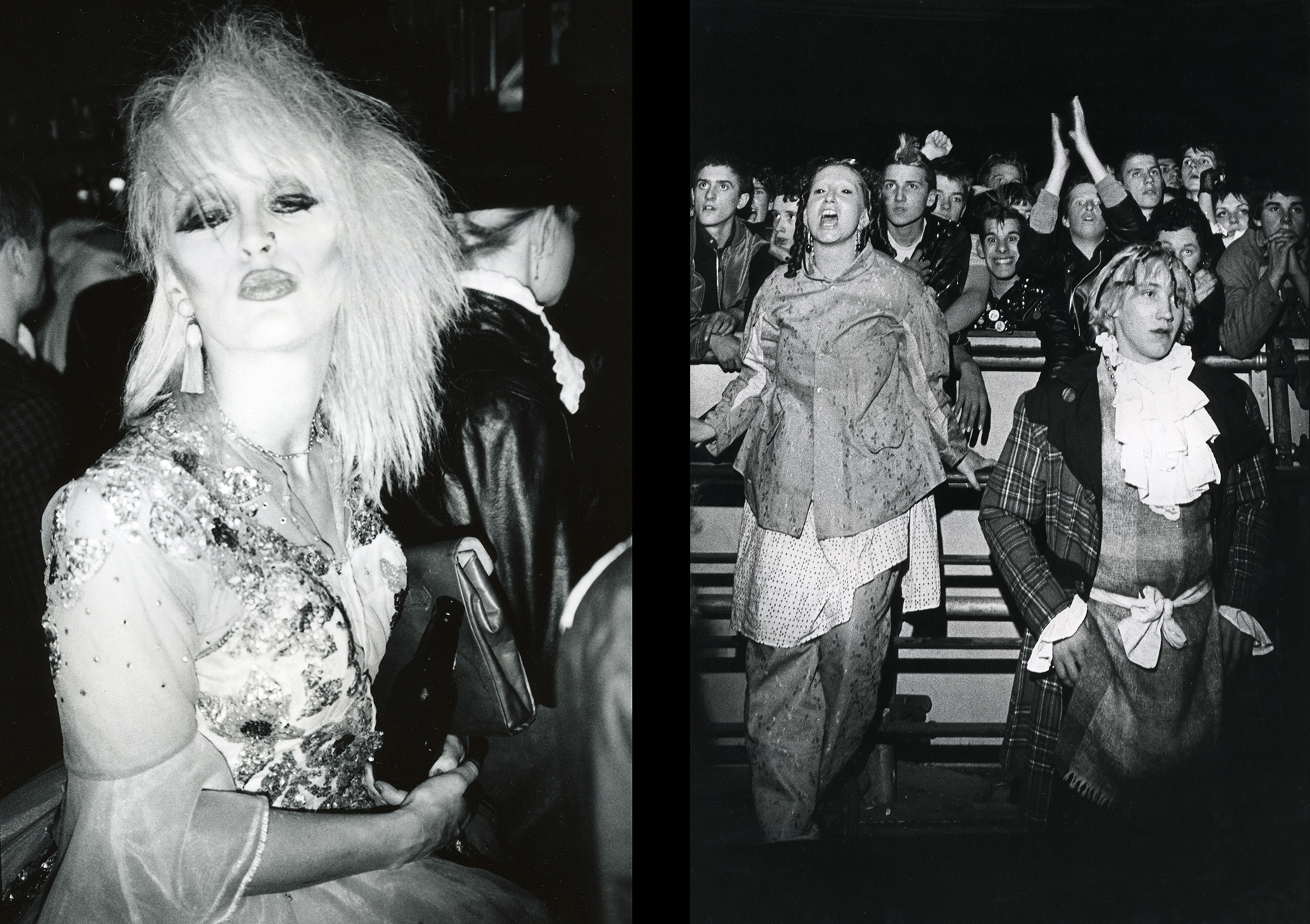 New Romantic icon Marilyn and Punk legend Jordan at an Adam Ant gig, London, 1980s by Peter Anderson