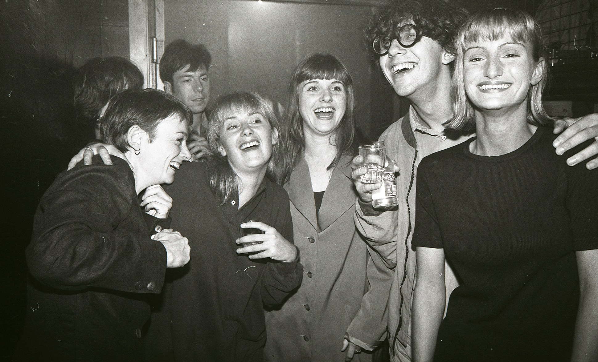 Group of Indie clubbers on a night out at The Boardwalk, Manchester, 1990 by Peter Walsh