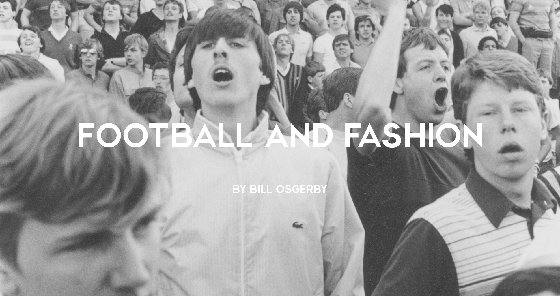 Football casual in a Lacoste jacket at a football match, 1980s by John Ingledew
