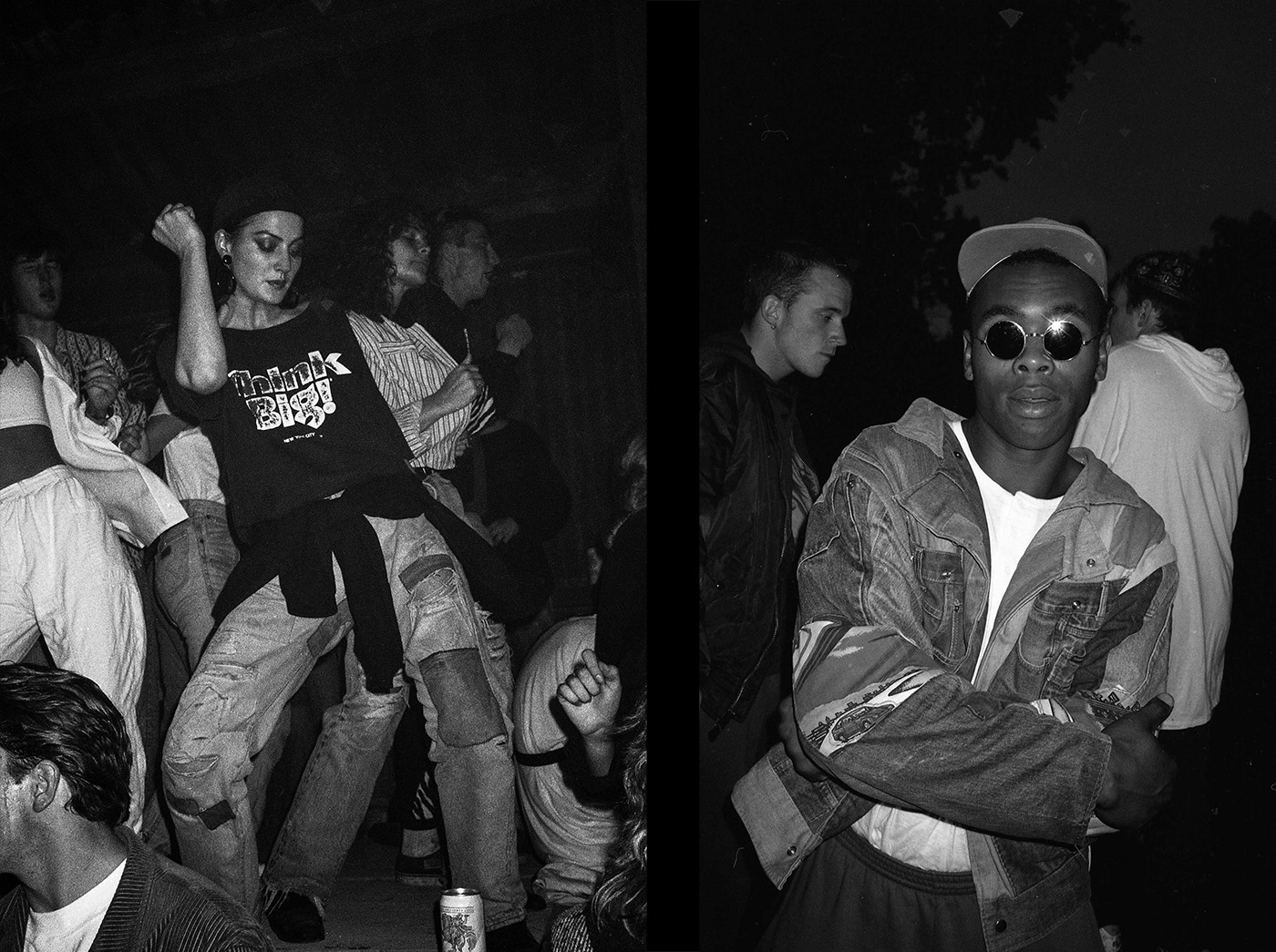 Two ravers at an underground warehouse rave during the second summer of love, 1980s by Gavin Watson